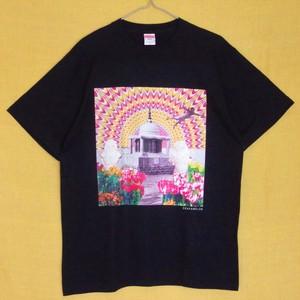 Tシャツ (ブラック)「斎戒沐浴」送料無料