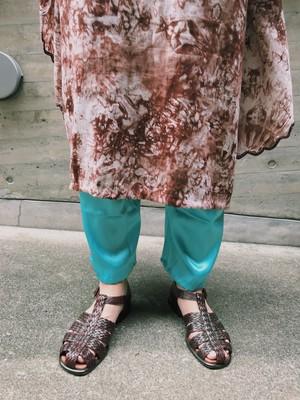 Vintage metalic light blue pants ( ヴィンテージ  メタリック 水色 パンツ )