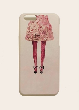 iPhone6Plus/6sPlus/7Plus/8Plusケース〈flower skirt〉