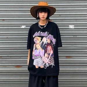 【トップス】アイドル半袖男女兼用ストリート系図柄暗黒系Tシャツ47369071