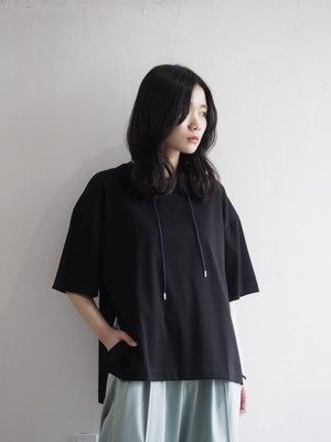 Quatorze コード付きTシャツ(Black)