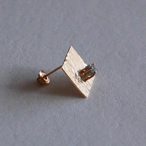 K18 ダイヤモンド原石 ピアス  [01313] [01328]