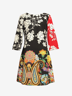 DESIGUAL COLORFUL DRESS