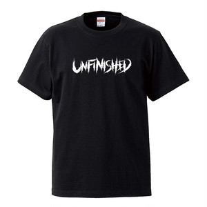 Unfinished Logo Tee (Black×White)