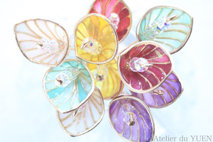 ⌘ Calla Lily bouquet ⌘ 片耳用 耳飾り