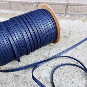 極上の艶 靴紐 (ネイビー) 平紐 6mm