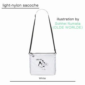 OLDE WORLDE ナイロンサコッシュ【WHITE】(nylon sacoche)