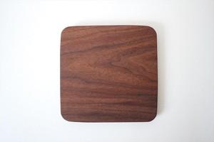 松下由典|木のトレー 正方形(L) ウォルナット