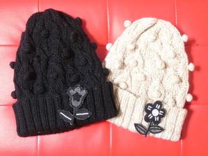 リーフ編みワッチ ブローチ付き