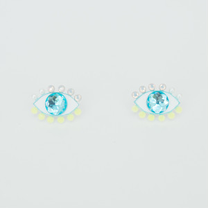 Medama Pierces / Earrings(S) -lemon-iceblue-