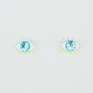Medama Pierces / Earrings(S) -lemon-iceblue-