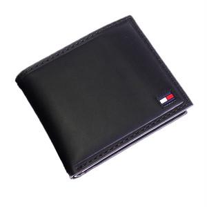 トミー ヒルフィガー TOMMY HILFIGER 二つ折財布 メンズ 31TL25X014-BK ブラック