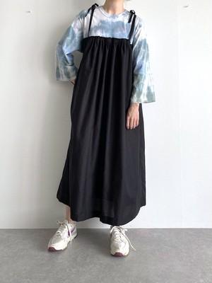 KICI リメイク Tシャツ タイダイ キャミ ワンピース ブルー