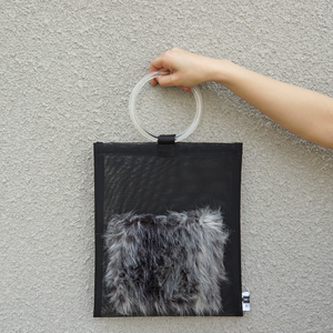 anti clone『hard tulle bag  BK/グレーミックス』