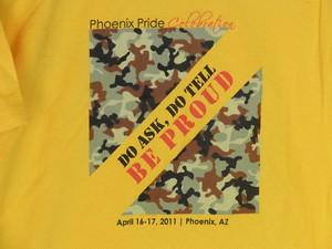 USA古着プリントTシャツサイズL黄色BE PROUD両面綿100汚れ