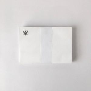 タイの白い封筒 洋型2号(50枚セット)|White Envelope of Thai(Set of 50)