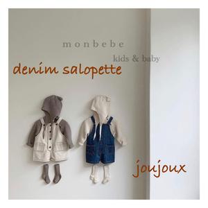【予約販売】denim salopette〈monbebe〉※サイズ注意