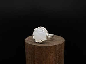 Sorcier ring limited [mat finish] ー silver925 x white marble ー