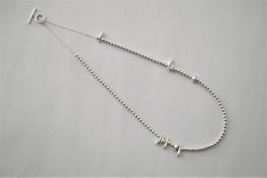 liquid / pebbles necklace