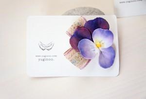 花標本・ビオラ(バイオレット)コサージュ&ヘアクリップ