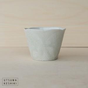 [前田 麻美]花七宝 蕎麦猪口(灰青釉)