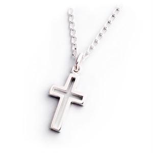 ネックレス シルバー925 オープン・クロス 十字架