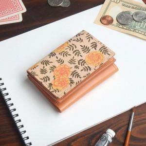三つ折り ミニ財布(ヴィンテージ マリーゴールド)牛革 オールレザー ILL-1126