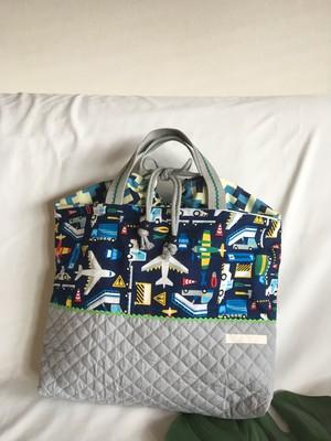 【オーダーOK】入園入学体操着お着替え袋内袋巾着54飛行機エアポートのお仕事