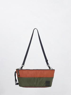 MARNI × PORTER SHOULDER POUCH Z2N91 OLIVE GREEN+RED+BORDEAUX SBPO0002U0P3441