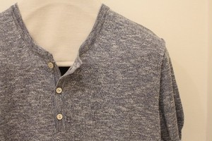 Fiver Henley Neck Summer Knit Navy