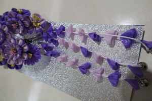 紫の藤の髪飾り 和装用 可愛い おしゃれ 振袖・打掛・袴 成人式 卒業式 結婚式など