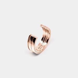シルバーリング「LOVE」- pink gold [受注生産]