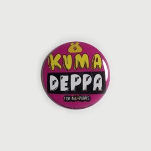 クマデッパ「パンクPINK」55mm缶バッジ