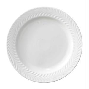 波佐見焼 翔芳窯 ローズマリー リムプレート 皿 約18cm マットホワイト 33405