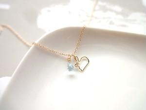 【受注生産】Necklace■animal rabbit 1■sky blue topaz