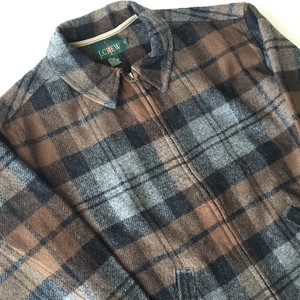 J.CREW : 90's wool check blouson (used)