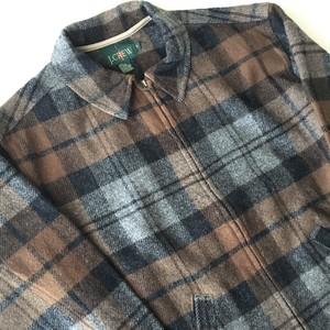 J.CREW : 90's wool check blouson (used)