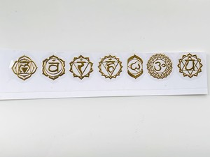 真鍮ゴールド7枚セット★エネルギーステッカー・エナジーシール・オルゴナイト