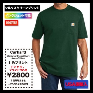 Carhartt Workwear Pocket Short Sleeve T-Shirt (品番CTK87)