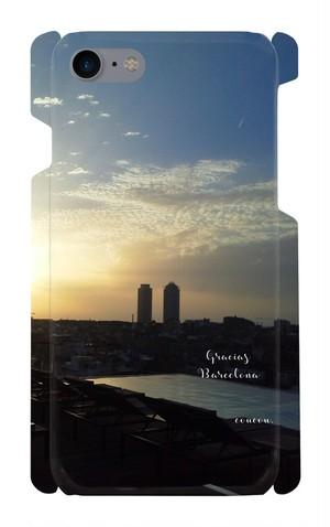 スマートフォンケース iPhon7.8対応  世界の景色 スペイン バルセロナ