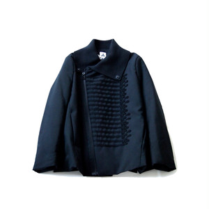 yuumiARIA / EMBROIDARY RIB WOOL JACKET[BLACK]
