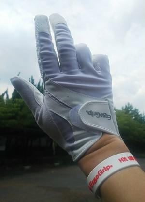 ゴルフ用 右手 ERGO FORCE フルフィンガー EGO-1902R 右手(ホワイト)  ※レディスサイズにも対応