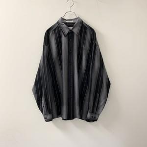 pierre cardin レーヨン/ポリエステル シャツ ブラック size XL メンズ 古着