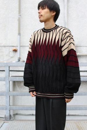 Crazy Border Knit Sweater