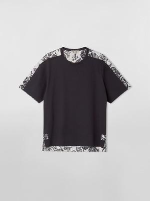 【Marni】オーガニックジャージー&ポプリン ショートスリーブTシャツ プリント