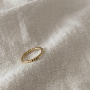 Silver925 basic ring gold 0119