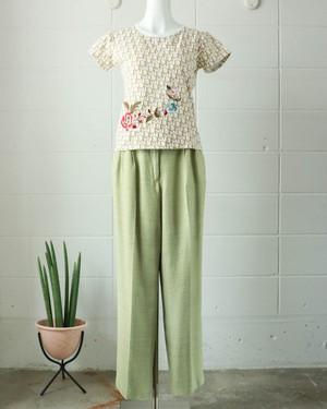 light green high waist pants