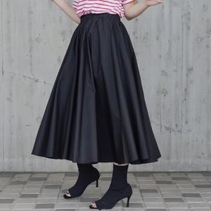 ミモレギャザースカート/BK