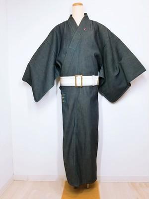デニム着物TATSUMI 男女兼用・青ステッチ