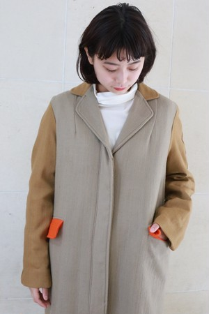 """A .Dupré """"Two style sleeve coat""""[Beige]"""